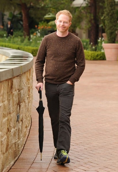 Jesse Tyler Ferguson of 'Modern Family' enjoys some time off at Pelican Hill in Newport Beach at Pelican Hill Resort on November 20, 2010 in Newport Beach, California.