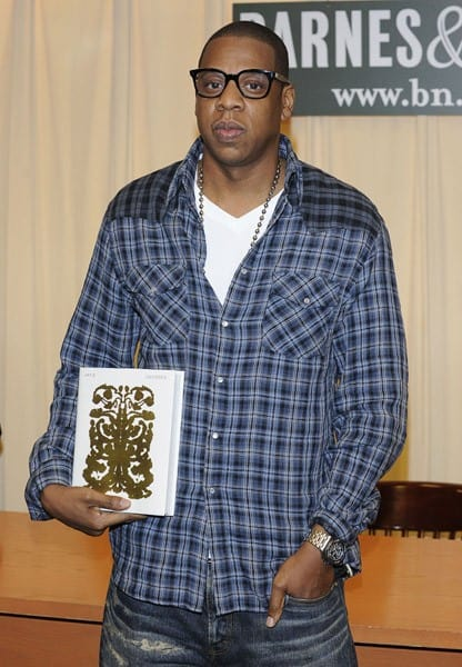 Jay-Z promotes 'Decoded' at Barnes & Noble, 5th Avenue on November 17, 2010 in New York City.