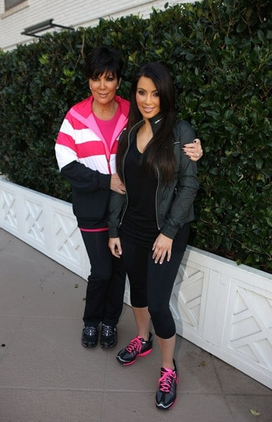 Kim Kardashian and Kris Jenner attend the SKECHERS Shape-Ups press conference with Kim Kardashian and Kris Jenner held at the Regent Beverly Wilshire Hotel on November 22, 2010 in Beverly Hills, California.