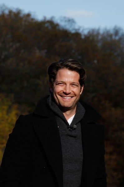 Nate Berkus films 'The Nate Berkus Show' in Central Park on November 19, 2010 in New York City.