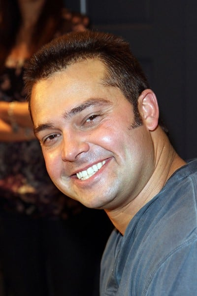 Nick Swisher is shaven to celebrate Movember at The Art of Shaving Shop & Barber Spa on November 29, 2010 in New York City.