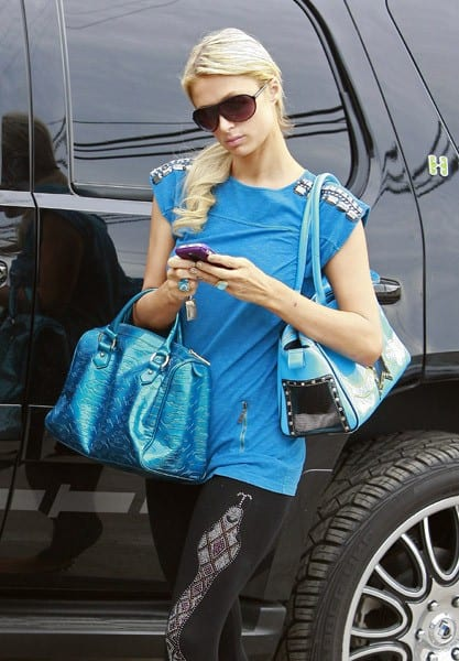 Paris Hilton is seen on November 7, 2010 in Los Angeles, California.