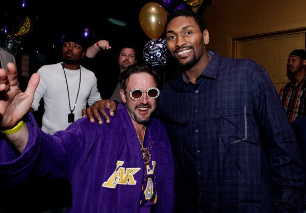 Actor David Arquette and NBA player Ron Artest attend Ron Artest's Birthday Celebration at The Conga Room at L.A. Live on November 14, 2010 in Los Angeles, California.