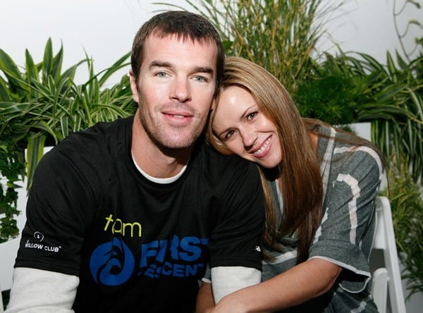 Ryan Sutter and Trista Sutter attend the ING New York City Marathon celebrity runners media call in Central Park on November 5, 2010 in New York City.