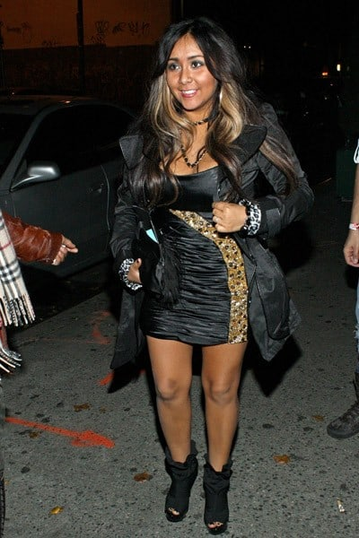 TV Personality Nicole 'Snooki' Polizzi attends her birthday party at Splash Bar on November 23, 2010 in New York City.