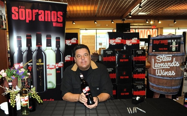 Steve Schirripa signs wine bottles at the Soprano Wine Bottle Signing at Stew Leonard's Wines on November 13, 2010 in Springfield, New Jersey.