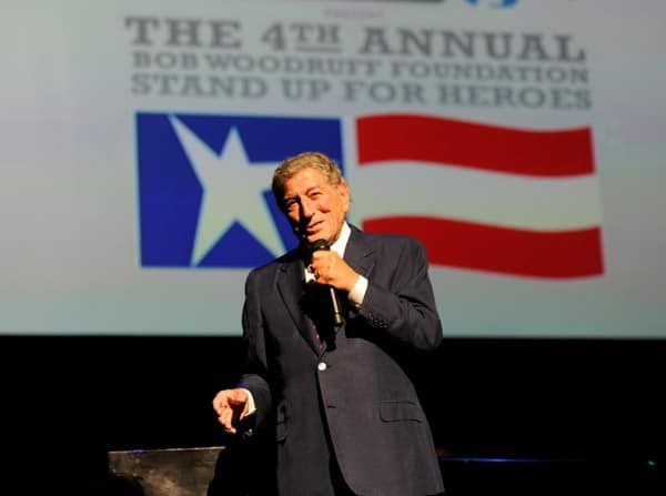 Tony Bennett performs on stage during the 'Stand Up for Heroes' at the Beacon Theatre on November 3, 2010 in New York City.
