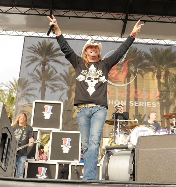 Bret Michaels performs at Zappos.com Rock 'n' Roll Las Vegas Marathon and Half-Marathon to benefit the Chron's and Colitis Foundation of America on December 5, 2010 in Las Vegas, Nevada.