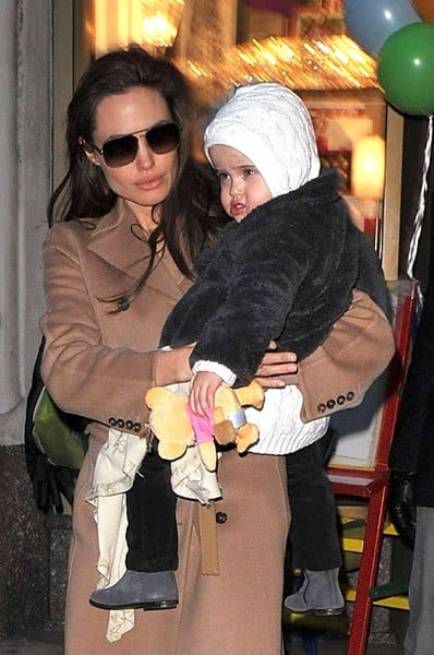 Angelina Jolie visits Lee's Art Shop on December 4, 2010 in New York City.