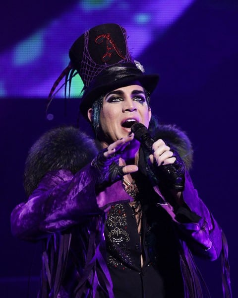 Adam Lambert performs at Club Nokia on December 16, 2010 in Los Angeles, California.