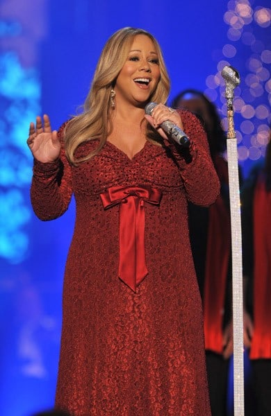 Mariah Carey performs onstage during TNT's 'Christmas in Washington 2010' at the National Building Museum on December 12, 2010 in Washington, DC.