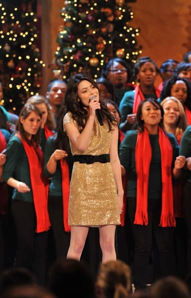 Miranda Cosgrove performs onstage during TNT's 'Christmas in Washington 2010' at the National Building Museum on December 12, 2010 in Washington, DC.