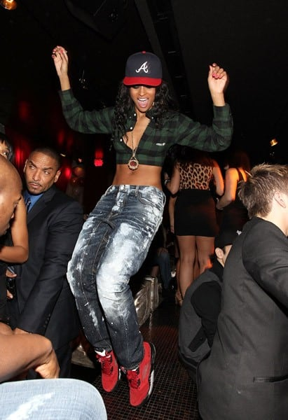 Musician Ciara attends the party celebrating the release of her new album 'Basic Instinct' at Drai's Hollywood Enhanced by Microsoft Tag on December 15, 2010 in Hollywood, California.