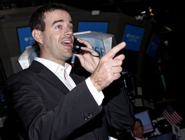 Television personality Carson Daly rings the opening bell at The New York Stock Exchange on December 30, 2010 in New York City.