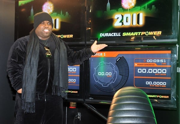 Singer Cee Lo Green visits the Duracell Mobile Smart Power Lab on December 30, 2010 in New York City.