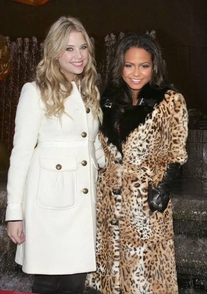 Christina Milian and Ashley Benson attend ABC Family's Winter Wonderland at The Rock Center Cafe at Rockefeller Center on December 5, 2010 in New York City.