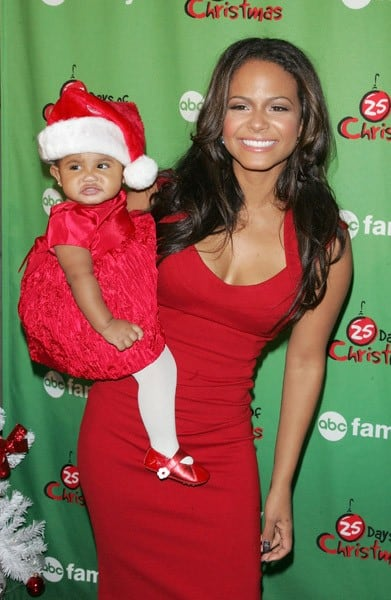 Actress Christina Milian and daughter Violet Madison Nash attend ABC Family's Winter Wonderland at The Rock Center Cafe at Rockefeller Center on December 5, 2010 in New York City.