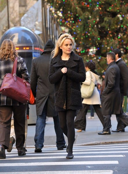 Duffy is seen on the streets of Manhattan on December 8, 2010 in New York City.