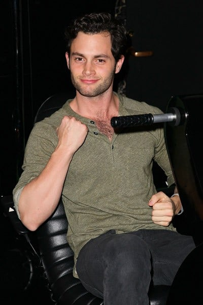 Penn Badgley visits the Duracell Mobile Smart Power Lab on December 21, 2010 in New York City.