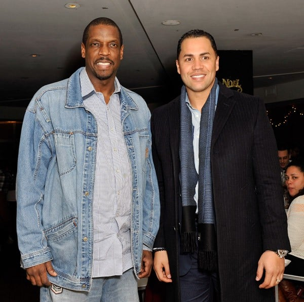 Dwight 'Doc' Gooden and New York Mets player and Sofrito co-owner Carlos Beltran at Sofrito on December 14, 2010 in New York City.