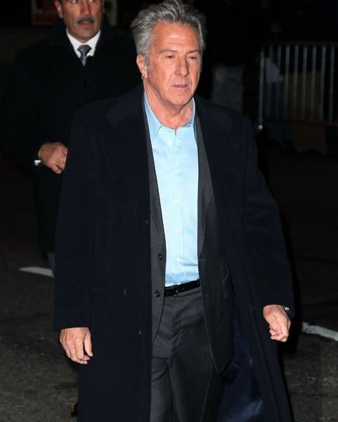 Actor Dustin Hoffman visits 'Late Show With David Letterman' at the Ed Sullivan Theater on December 13, 2010 in New York City.
