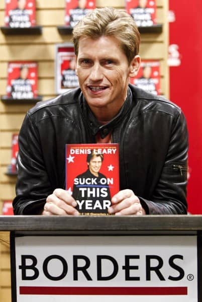 Actor and author Dennis Leary promotes his new book 'Suck on This Year' at Borders Columbus Circle on December 8, 2010 in New York City.