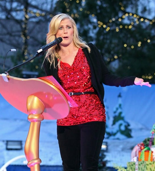 Alison Sweeney attends the 'GRINCHmas' Celebrity Holiday Readings at Universal Studios Hollywood on December 23, 2010 in Universal City, California.