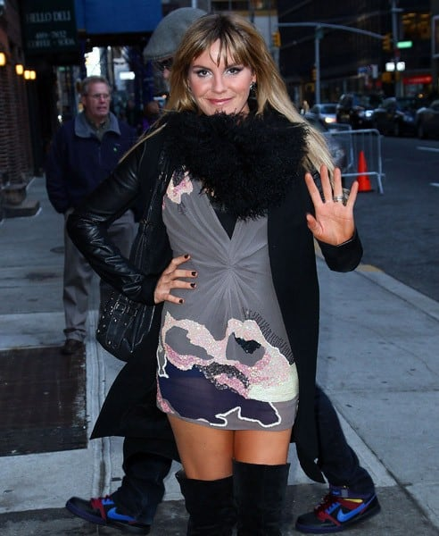 Singer/Musician Grace Potter of Grace Potter and the Nocturnals visits 'Late Show With David Letterman' at the Ed Sullivan Theater on December 22, 2010 in New York City.