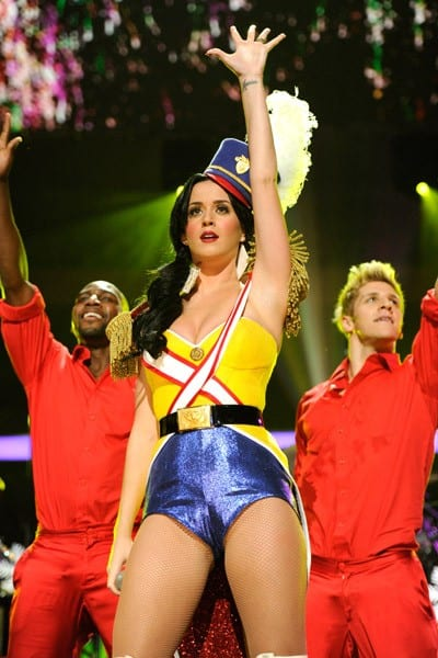 Katy Perry performs onstage during Z100's Jingle Ball 2010 presented by H&M at Madison Square Garden on December 10, 2010 in New York City.