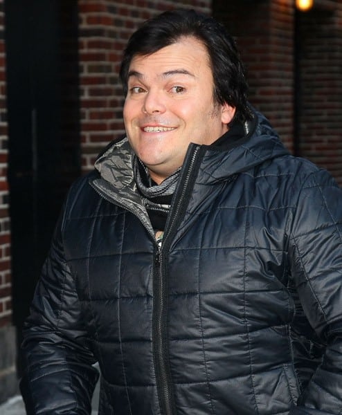 Actor Jack Black visits 'Late Show With David Letterman' at the Ed Sullivan Theater on December 20, 2010 in New York City.