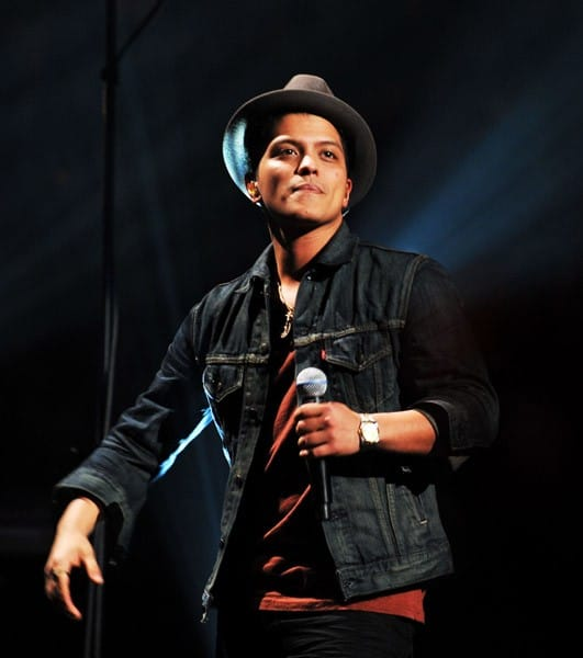 Bruno Mars performs onstage during Z100's Jingle Ball 2010 presented by H&M at Madison Square Garden on December 10, 2010 in New York City.
