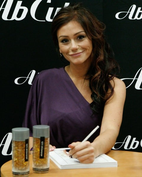 Jenni 'JWoww' Farley Launches Ab Cuts Natural Body Supplement by Revolution at GNC in New York City on December 15, 2010
