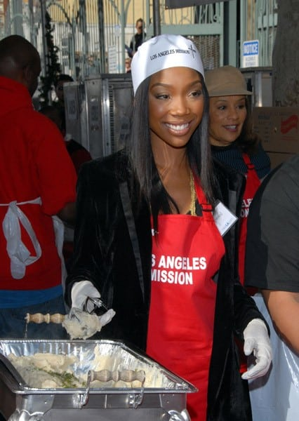 Brandy attends Christmas Eve At The Los Angeles Mission on December 24, 2010 in Los Angeles, California.