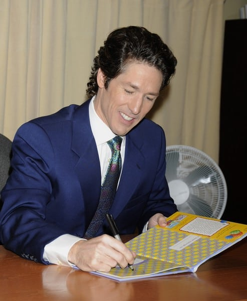 Joel Osteen's 'The Christmas Spirit: Memories of Family, Friends, and Faith' Book Signing at Barnes & Noble in New York City on December 6, 2010