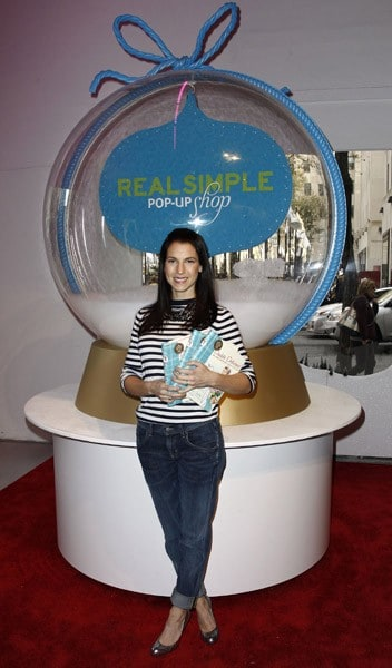 Author Jessica Seinfeld promotes her new book 'Double Delicious!' at the Real Simple Pop-Up Shop in Rockefeller Center on December 3, 2010 in New York City.