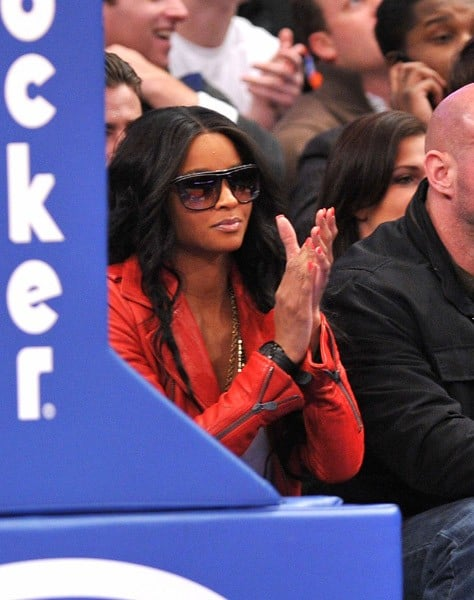 Ciara attends the Oklahoma City Thunder vs New York Knicks game at Madison Square Garden on December 22, 2010 in New York City.