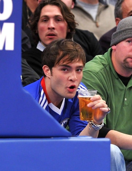 Ed Westwick attends the Boston Celtics vs New York Knicks game at Madison Square Garden on December 15, 2010 in New York City.