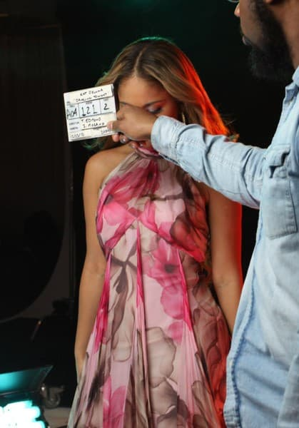 Kat Deluna on the set of her 'Dancing Tonight' video shoot at Milk Studios on December 23, 2010 in New York City.