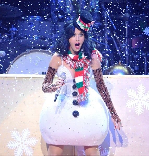 Katy Perry performs at the KIIS FM's Jingle Ball 2010 at Nokia Theatre L.A. Live on December 5, 2010 in Los Angeles, California.