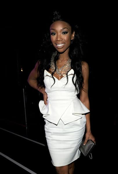 Brandy poses during 'VH1 Divas Salute the Troops' presented by the USO at the MCAS Miramar on December 3, 2010 in Miramar, California.