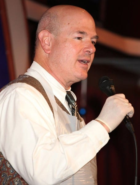 Larry Miller at Laugh Factory's 31st Annual Free Christmas Dinner on December 25, 2010 in West Hollywood, California.