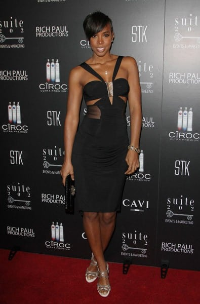 Kelly Rowland attends CIROC VODKA Hosts LeBron James' 26th Birthday Party at The STK Coco Deville Lounge at The Gansevoort Miami Beach on December 30, 2010 in Miami Beach, Florida.