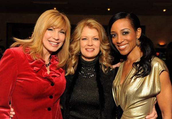 Leeza Gibbons, Mary Hart and Shaun Robinson attend Larry King Live Wrap Party held at at Spago Beverly Hills on December 16, 2010 in Beverly Hills, California.