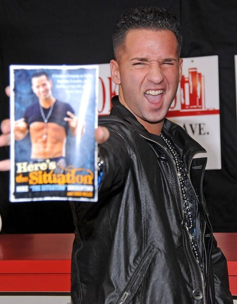 Mike 'The Situation' Sorrentino promotes 'Here's The Situation' at Bookends on December 12, 2010 in Ridgewood, New Jersey.