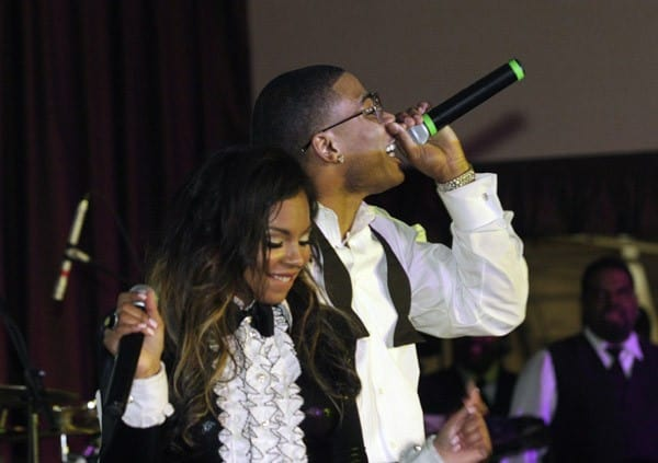 Nelly and Ashanti perform at Nelly's 5th Annual Black And White Ball at Chase Park Plaza on December 19, 2010 in St. Louis, Missouri.