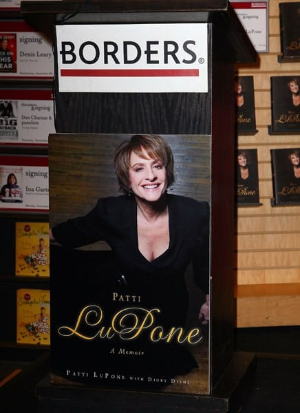 Actress Patti LuPone promotes her new book 'Patti LuPone: A Memoir' at Borders Columbus Circle on December 6, 2010 in New York City.