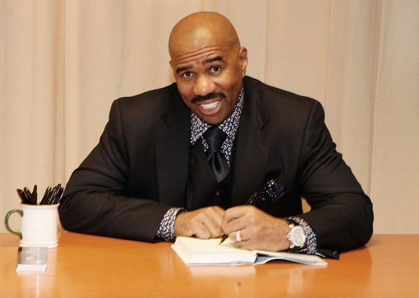 Steve Harvey promotes 'Straight Talk, No Chaser' at Barnes & Noble, 5th Avenue on December 7, 2010 in New York City.