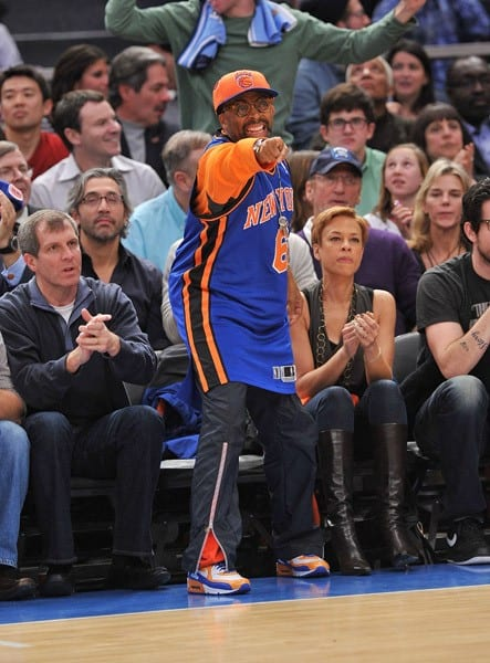 Spike Lee attends the Miami Heat vs New York Knicks game at Madison Square Garden on December 17, 2010 in New York City.