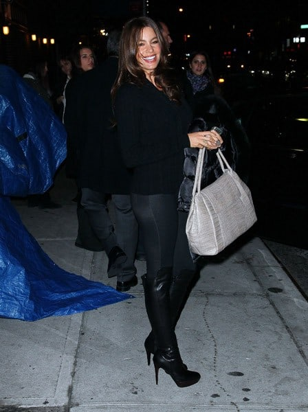 Actress Sofia Vergara visits 'Late Show With David Letterman' at the Ed Sullivan Theater on December 21, 2010 in New York City.