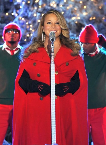 Mariah Carey performs at the 2010 Rockefeller Center tree lighting at Rockefeller Center on November 30, 2010 in New York City.